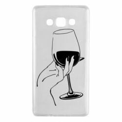Чехол для Samsung A7 2015 Рука с бокалом