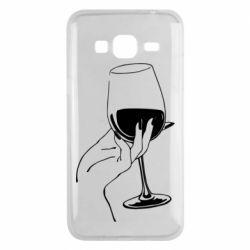 Чехол для Samsung J3 2016 Рука с бокалом