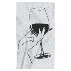 Полотенце Рука с бокалом