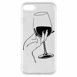 Чехол для iPhone 7 Рука с бокалом