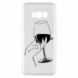 Чехол для Samsung S8 Рука с бокалом