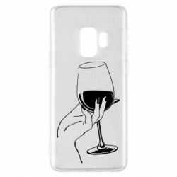 Чехол для Samsung S9 Рука с бокалом