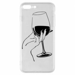 Чехол для iPhone 8 Plus Рука с бокалом