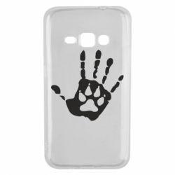 Чехол для Samsung J1 2016 Рука волка