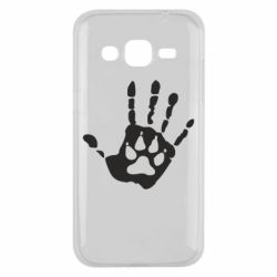 Чехол для Samsung J2 2015 Рука волка