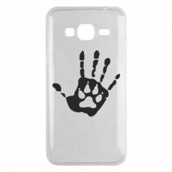 Чехол для Samsung J3 2016 Рука волка