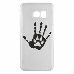 Чехол для Samsung S6 EDGE Рука волка
