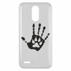 Чехол для LG K10 2017 Рука волка - FatLine