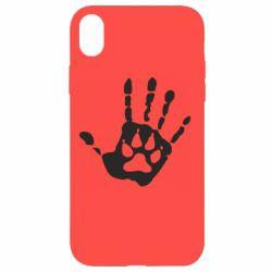 Чехол для iPhone XR Рука волка