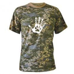 Камуфляжная футболка Рука волка - FatLine