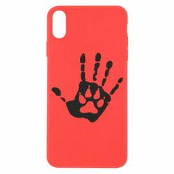 Чехол для iPhone X/Xs Рука волка