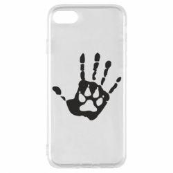 Чехол для iPhone 8 Рука волка
