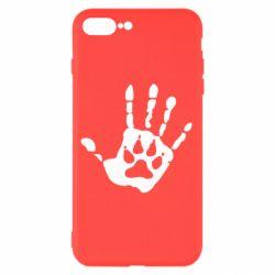Чехол для iPhone 8 Plus Рука волка