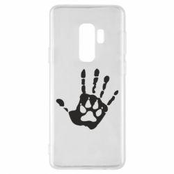 Чехол для Samsung S9+ Рука волка