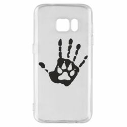 Чехол для Samsung S7 Рука волка