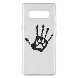 Чехол для Samsung Note 8 Рука волка