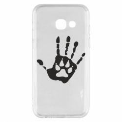 Чехол для Samsung A3 2017 Рука волка