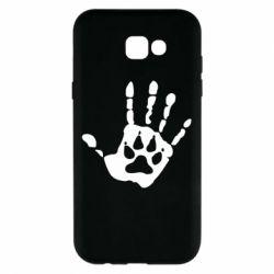 Чехол для Samsung A7 2017 Рука волка