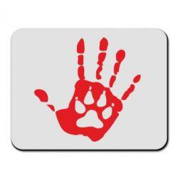 Коврик для мыши Рука волка - FatLine