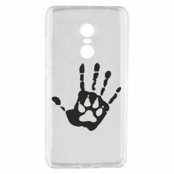 Чехол для Xiaomi Redmi Note 4 Рука волка - FatLine