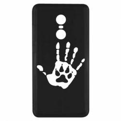 Чехол для Xiaomi Redmi Note 4x Рука волка - FatLine