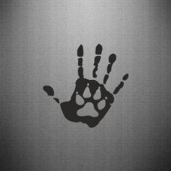 Наклейка Рука волка