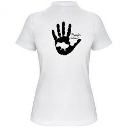 Женская футболка поло Рука з картою України - FatLine