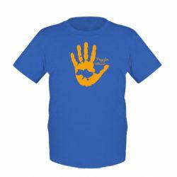 Детская футболка Рука з картою України - FatLine