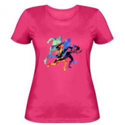 Женская футболка Run