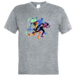 Чоловіча футболка з V-подібним вирізом Run