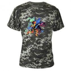 Камуфляжная футболка Run