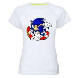 Женская спортивная футболка Running sonic