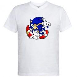 Мужская футболка  с V-образным вырезом Running sonic