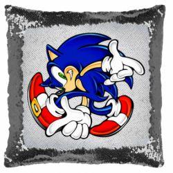 Подушка-хамелеон Running sonic