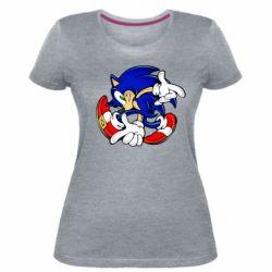 Женская стрейчевая футболка Running sonic