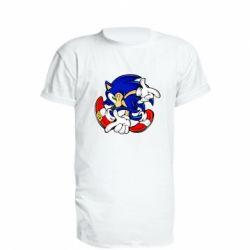 Удлиненная футболка Running sonic