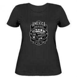 Жіноча футболка Runs On Diesel