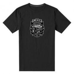 Чоловіча стрейчева футболка Runs On Diesel