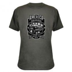 Камуфляжна футболка Runs On Diesel