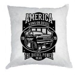 Подушка Runs On Diesel