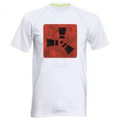 Мужская спортивная футболка Rust Logotype, FatLine  - купить со скидкой