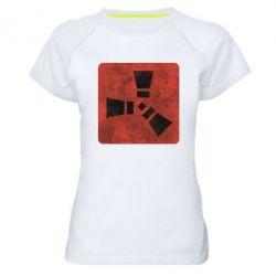 Купить Женская спортивная футболка Rust Logotype, FatLine