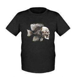 Дитяча футболка Риба-череп
