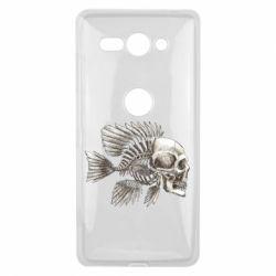 Купить Чехол для Sony Xperia XZ2 Compact Рыба-череп, FatLine