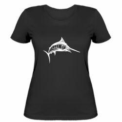 Женская футболка Рыба Марлин - FatLine