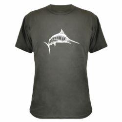 Камуфляжная футболка Рыба Марлин - FatLine
