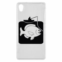 Чехол для Sony Xperia Z2 Рыба на крючке - FatLine