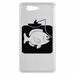 Чехол для Sony Xperia Z3 mini Рыба на крючке - FatLine