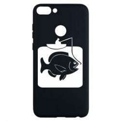 Чехол для Huawei P Smart Рыба на крючке - FatLine