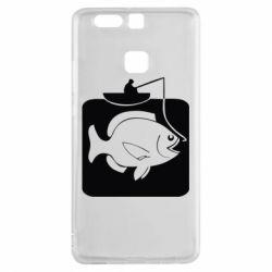 Чехол для Huawei P9 Рыба на крючке - FatLine